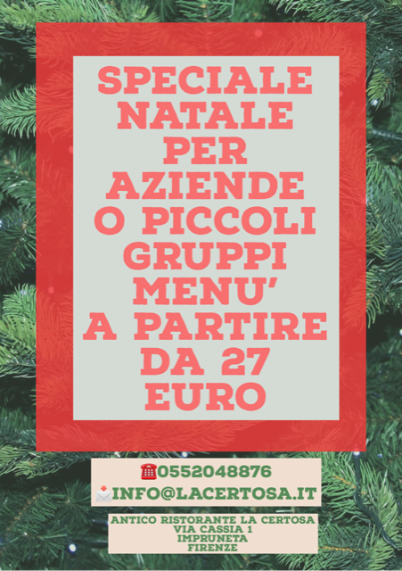 Cene aziendali Natale Firenze